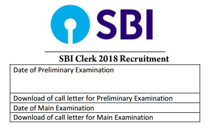 sbi clerk important dates